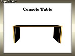 black lacquer console table second life marketplace black lacquer console sofa table