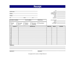 template blank receipt template