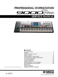 yamaha 9000 pro service manual electrical connector electronics