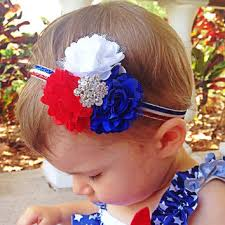 4th of july headband 4th of july headband white and from squishy cheeks