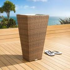 luxury outdoor garden wall set of five brown rattan planters with