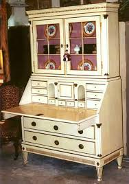 secretary desk with bookcase swedish 19thc cream painted secretary desk bookcase item 7229