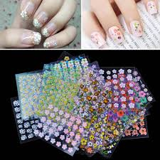 30 sheet 3d mix color floral design nail art stickers decals sales