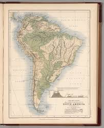 south america map buy mountains table lands plains valleys of south america