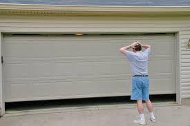 garage door opener track garage door malfunction closing wageuzi