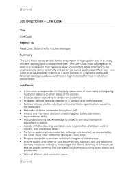 Sample Chef Resume by Cover Letter For Resume Cook