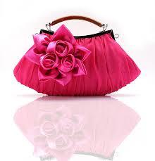 bridal party makeup bags purple satin wedding evening bag clutch handbag
