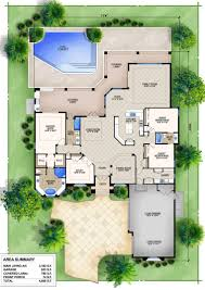 epic mediterranean house floor plans with pools used minimalist