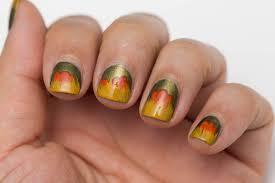 fall inspired nail art for short nails with cosmetics aficionado