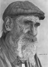 old man drawing pencil drawing pencil