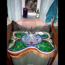 mosaic bathroom ideas amazing glass countertops design ideas u0026 decors