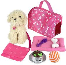 girl accessories click n play 9 doll puppy set and accessories