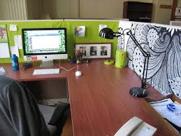 Decor Office by Cubicle Decoration Office Ideas Green Stylish Cubicle