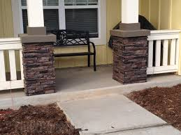 faux stone column wraps for added style creative columns