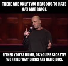 Gay Marriage Memes - joe rogan still has the best short and sweet summary of the gay