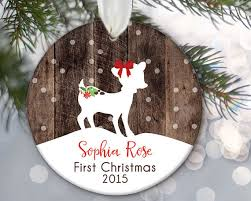 personalized baby christmas ornament baby s christmas ornament baby girl ornament fawn