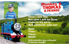 Birthday Invitation Cards For Friends Thomas The Train Birthday Invitations U2013 Gangcraft Net