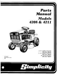 simplicity lawn mower 4208 user guide manualsonline com