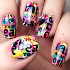 colorful nails with nail art stamping youtube