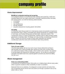 templates of company profiles customizable company profile