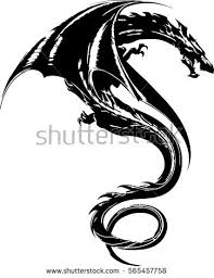 tribal dragon tattoo design illustration stock vector 565457758