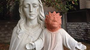 northern ontario jesus statue gets shocking replacement head