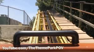 Goldrusher Six Flags Magic Mountain Gold Rusher On Ride Front Seat Pov Six Flags Magic Mountain
