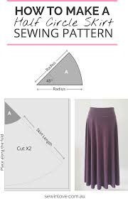 how to make a skirt in one day easy half circle skirt sew in love
