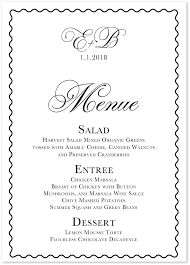 wedding menu cards celebration white wedding menus custom wedding party menu