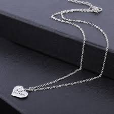 s day charm necklace god heart charm necklace from silver