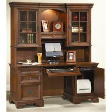 Home Office Desk With Hutch Spacious Home Office Desk With Hutch On Computer Corner White