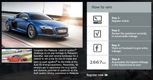 audi quattro driving experience join audi s malaysia land of quattro challenge to drive the