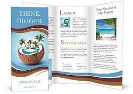 island brochure template imaginary tropical island in the coconut brochure template