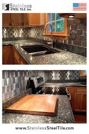 Metallic Tile Backsplash by 192 Best Backsplash Kitchen Ideas Images On Pinterest Stainless
