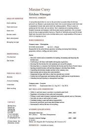 Sous Chef Resume Sample by Culinary Resume Template Billybullock Us
