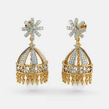 gold jhumka earrings design with price buy yellow gold jhumka earring designs online in india 2017