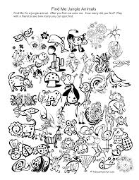 jungle coloring pages 2 coloring kids