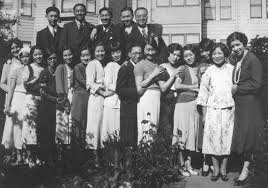 san francisco 1920 s hair stylist young women and men from the chinese presbyterian church