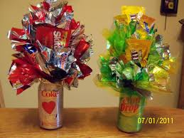 candy bouquets beechercraftladies pop can candy bouquets