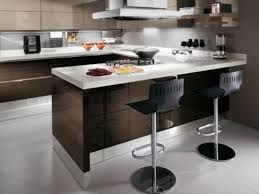 Bar Kitchen Design - small apartment kitchen with bar design modern and comforting