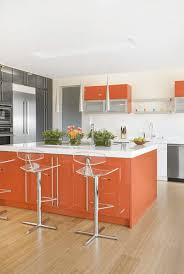 kitchen orange kitchen island breakfast bar with transparent back