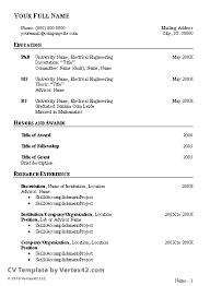 Resume Examples In Word Format by Free Cv Template Curriculum Vitae Template And Cv Example