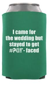 wedding koozie ideas custom wedding can coolers totallyweddingkoozies