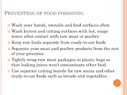 u nhealthy diet f ood poisoning food poisoning is an ever present