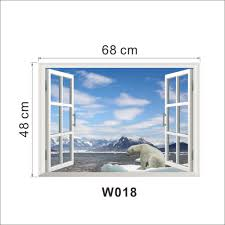 aliexpress com buy white snow glacier mountain beach polar bear aliexpress com buy white snow glacier mountain beach polar bear 3d window beautiful film wall decal wallpaper view wall stickersecals kids decor from