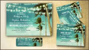 palm tree wedding invitations palm tree wedding invitation paperinvite