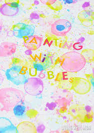 how to paint with bubbles the creative bubble activity for kids