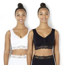Comfort Bras Vercella Vita Medium Control Lace Trim Comfort Bras Pack Of 2