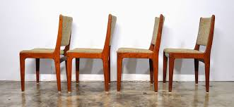 Mf Design Furniture Select Modern Set Of 4 Danish Modern Teak Dining Chairs