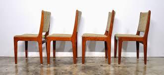 Mf Design Furniture Select Modern Set Of 4 Danish Modern Teak Dining Chairs
